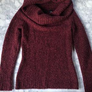 MODA. International. Cowl Neck Wool Blend Sweater